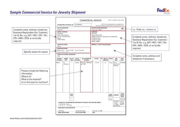9+ Jewelry Invoice Samples and Templates \u2013 PDF, Word, Excel Sample