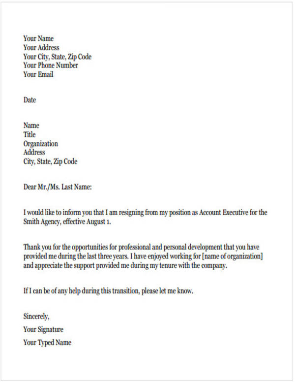 11+ Teacher Resignation Letter Samples and Templates - PDF, Word