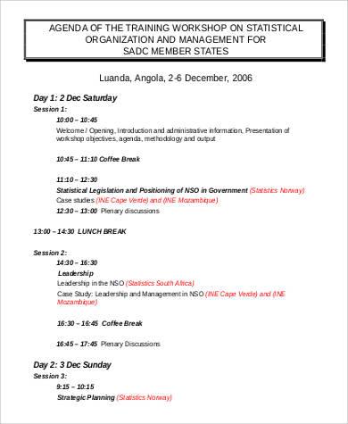 training agenda sample - Funfpandroid - Sample Training Agenda