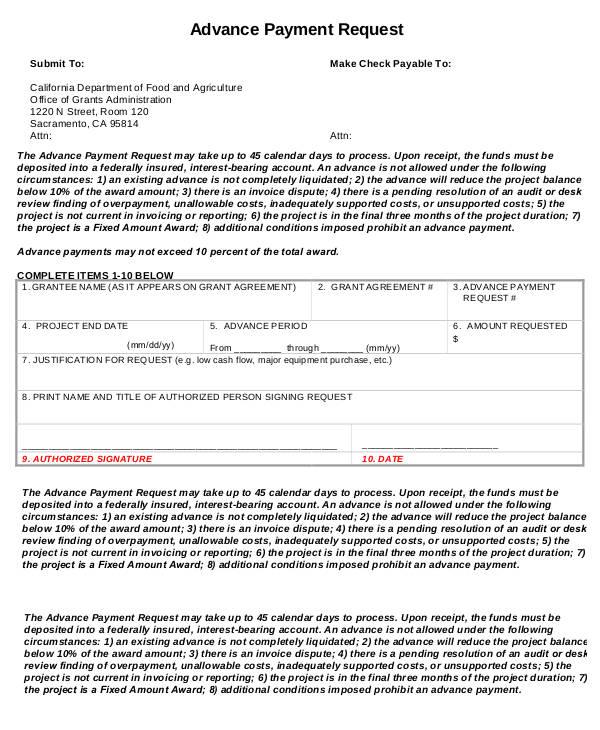 10+ Advance Payment Invoice Templates - PDF