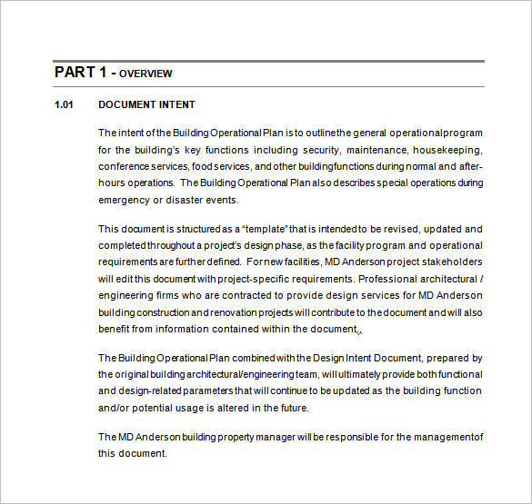 10+ Annual Operational Plan Samples  Templates \u2013 PDF, Word, Excel