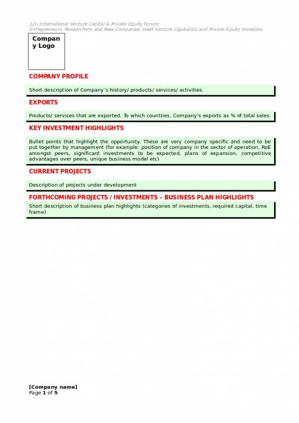 12+ Capital Investment Proposal Samples  Templates \u2013 PDF, Word - sample investment proposal