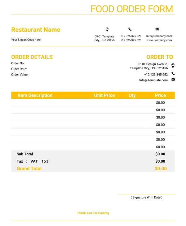 23+ Order Form Templates - PDF, Word, Excel