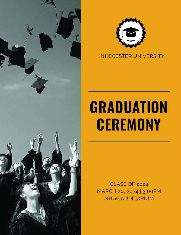 6+ Graduation Program Templates \u2013 PDF, WORD Sample Templates - graduation program template pdf