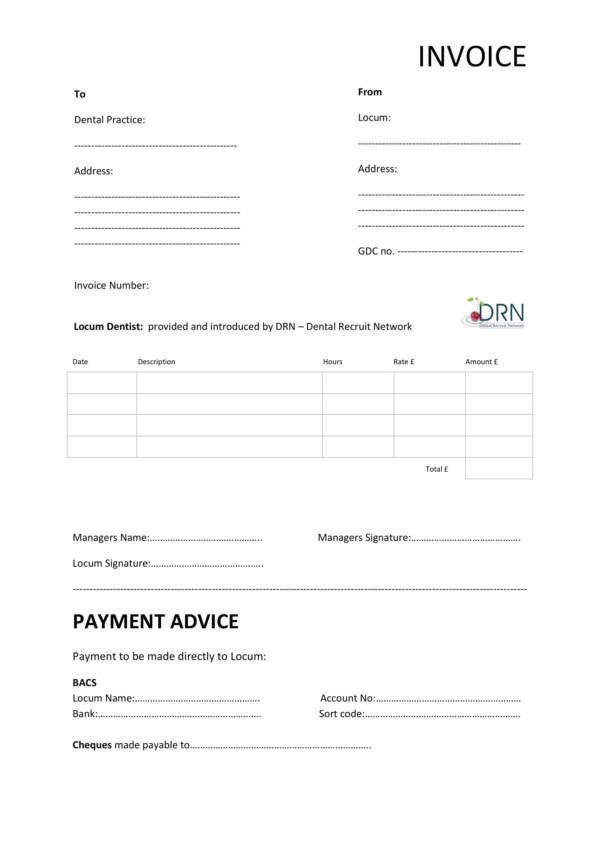 9+ Dental Invoice Templates - PDF, Word, Excel