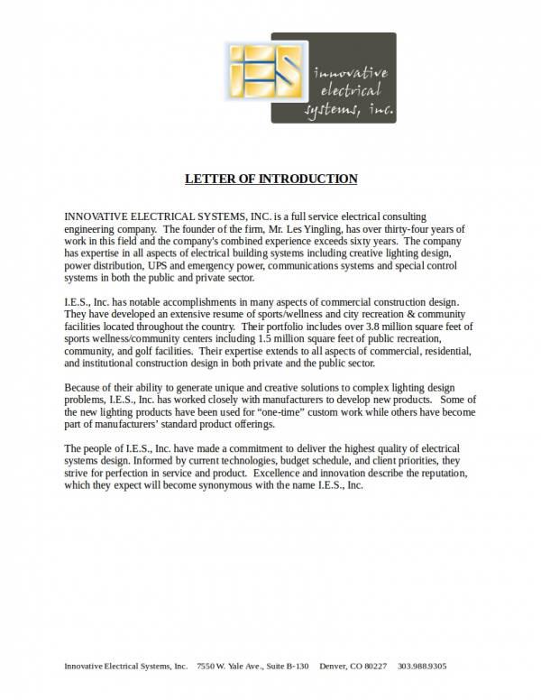 company introductory letter sample - Pinarkubkireklamowe