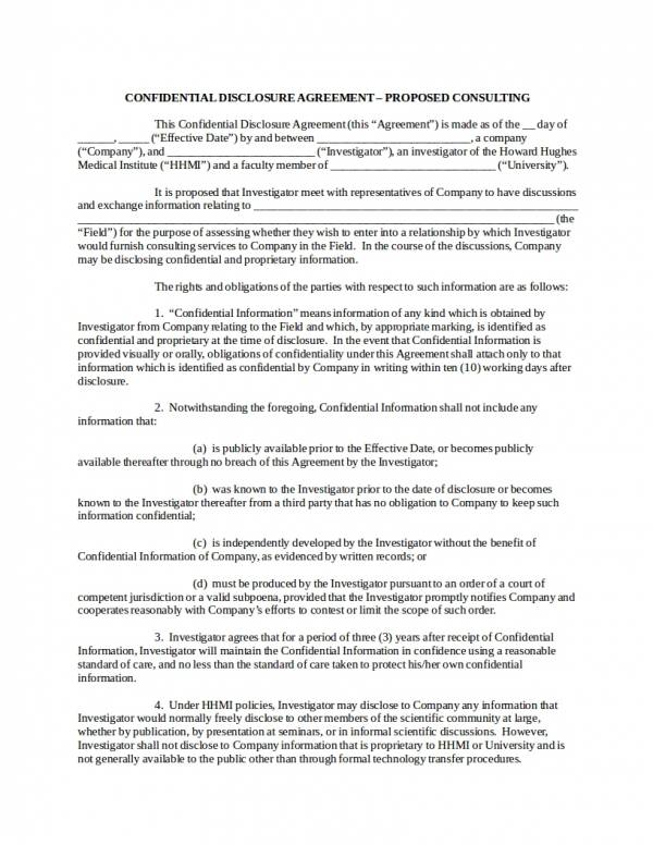 16+ Confidentiality Agreement for Consultants - PDF, Word