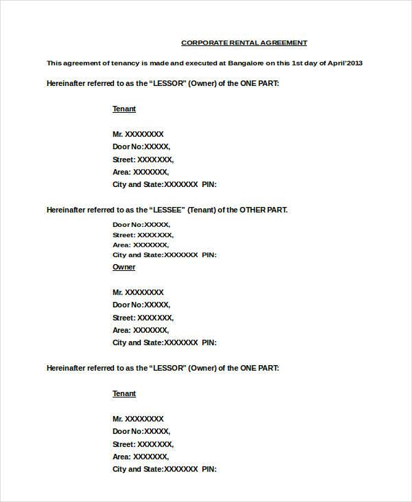10+ Sample Apartment Rental Agreement Templates - PDF, Word