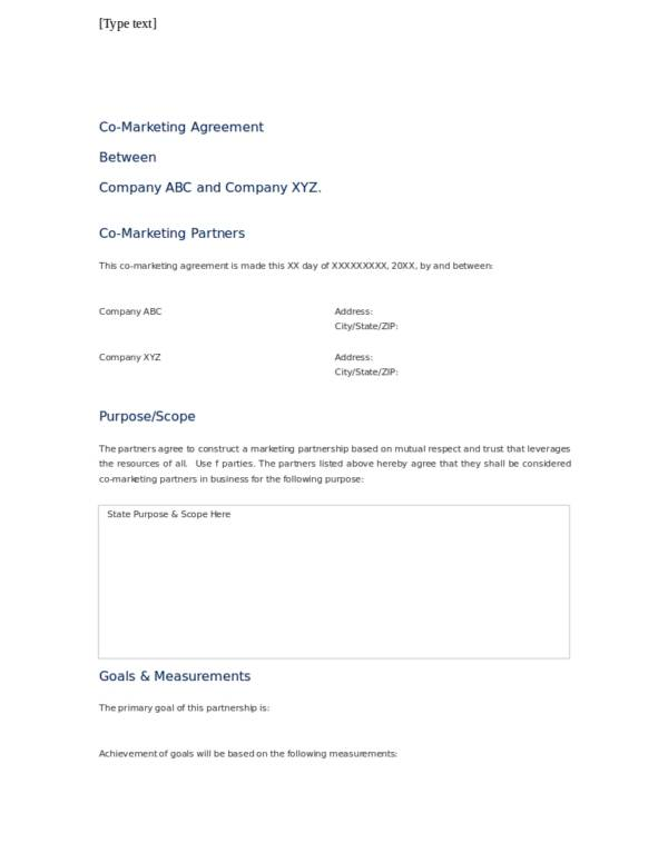 21+ Advertising and Marketing Agreement Template - PDF, Word, Apple