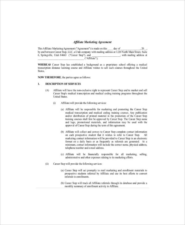 11+ Marketing Services Agreement Template - PDF, Word
