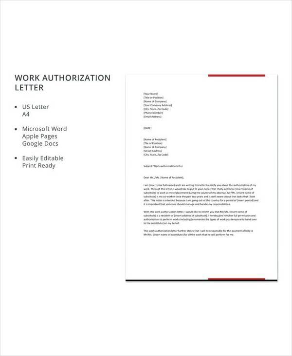 authorization letter template - Pinarkubkireklamowe