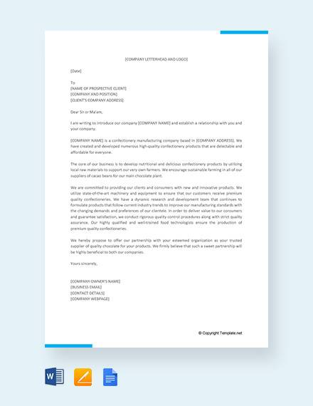 18+ Sample Business Introduction Letters - PDF, DO9
