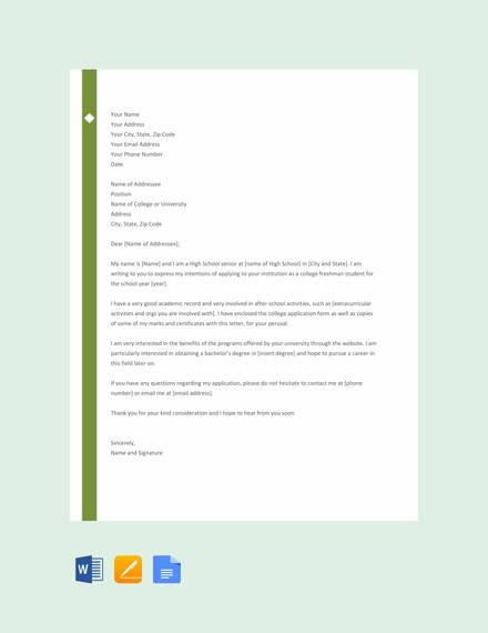 10+ Sample College Letter Of Intent - PDF, DOC