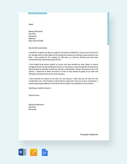13+ Sample Letter of Intent for Promotion Templates - PDF, DOC