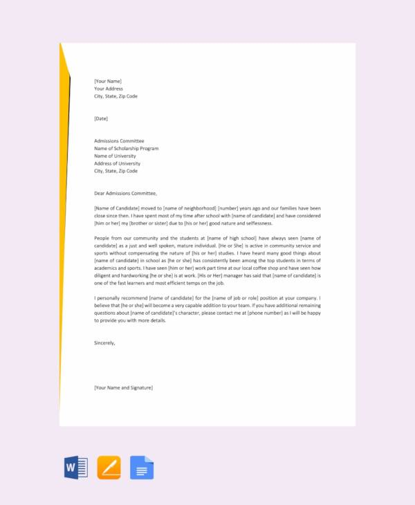 8+ Sample Letters of Recommendation For a Friend - PDF, DOC