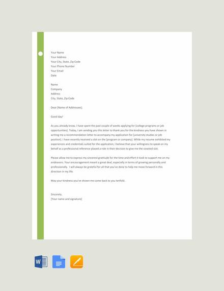 28+ Letter of Recommendation In Word Samples