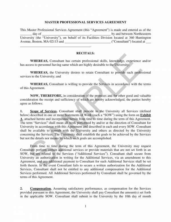 10+ Master Professional Services Agreement - PDF