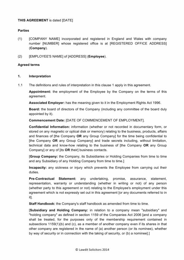 16+ Employment Agreement Executive Templates - PDF
