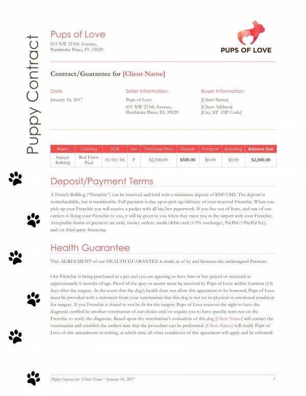Simple Sales Contract Template Free Contractor Contract Template
