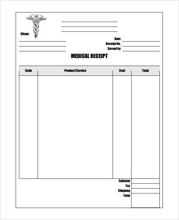 11+ Medical Bill Receipt Template - PDF, Word, Excel