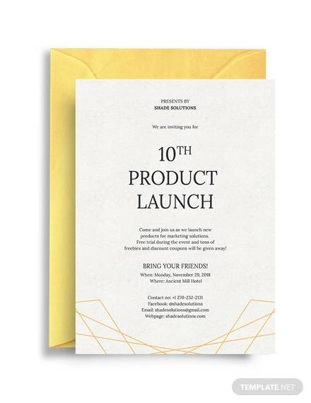 18+ Sample Business Invitation Templates - PDF, PSD, Vector