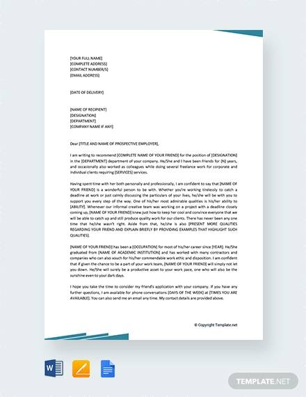 Job Recommendation Letter- 12+ Free Documents in Word, PDF