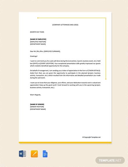 10+ Sample Employee Thank You Letters - Free Sample, Example, Format