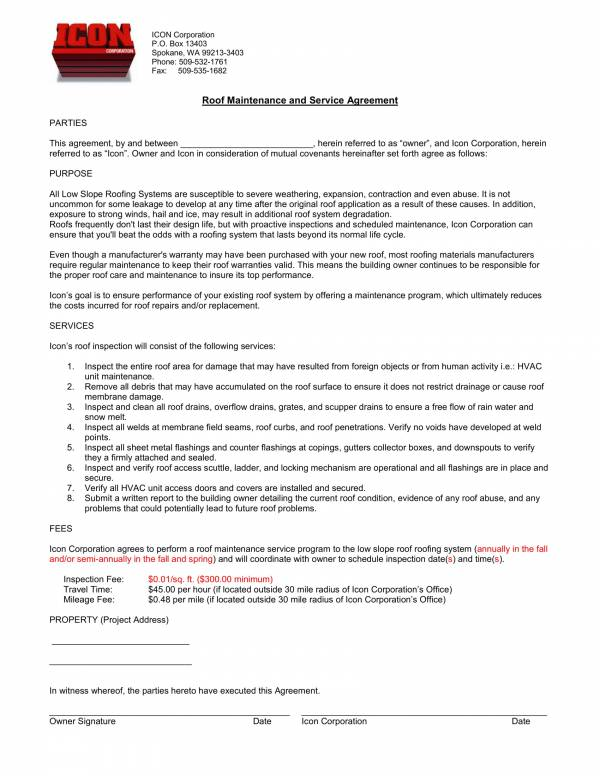 7+ Commercial Roofing Contract Templates - PDF, Word, Apple Pages