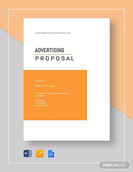 8+ Advertising Proposal Samples  Templates - Word, PDF