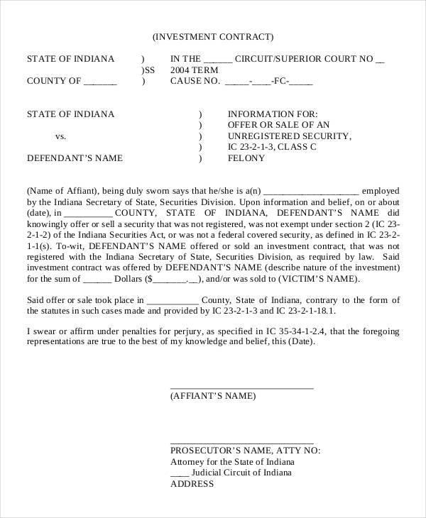 12+ Investor Contract Template - PDF
