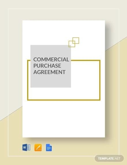 8+ Commercial Purchase Agreements - Word, PDF