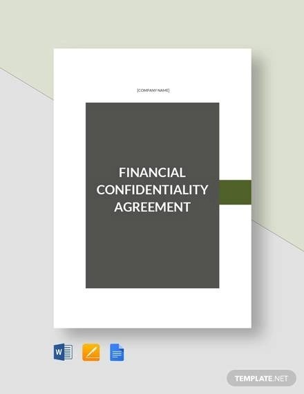 8+ Sample Financial Confidentiality Agreements