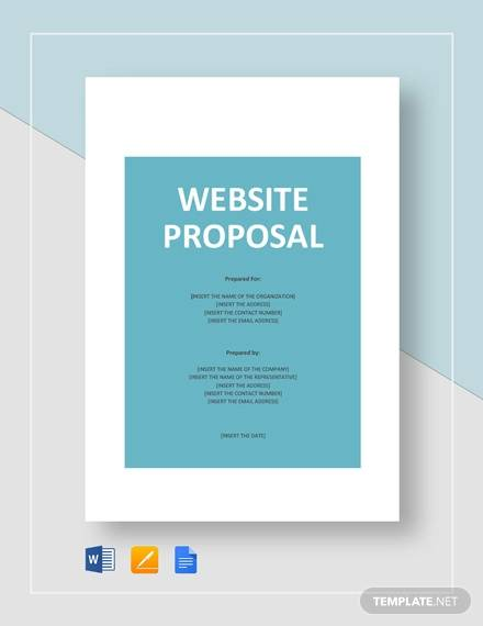 9+ Website Proposals -Word, PDF, Pages
