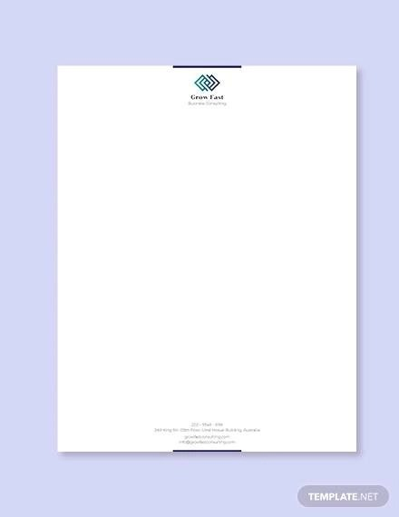 Sample Business Letterhead Template - 23+ Download in PSD, Vector
