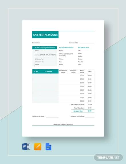 7+ Vehicle Invoice Templates - Free Word, PDF Format Download