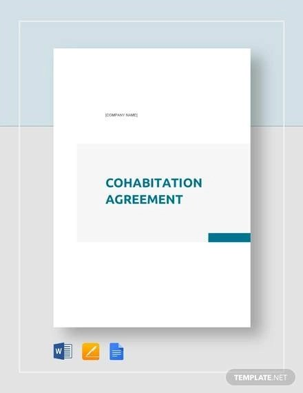 Cohabitation Agreement - 7+ Documents in Word, PDF
