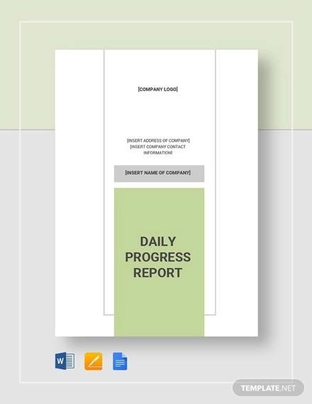 Sample Daily Report - 20+ Documents in Word, PDF