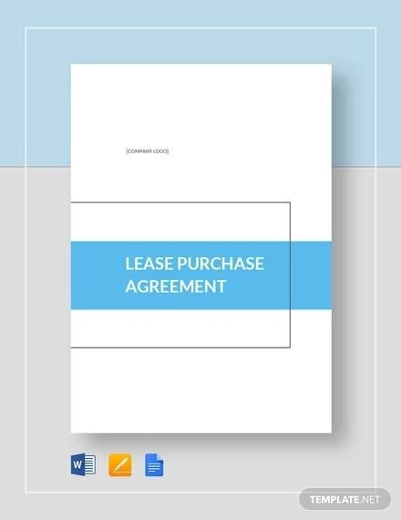 Sample Lease Purchase Agreement - 10+ Examples in PDF, Word