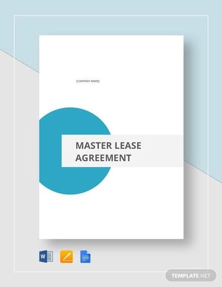 8+ Master Lease Agreement Sample - Examples in Word, PDF
