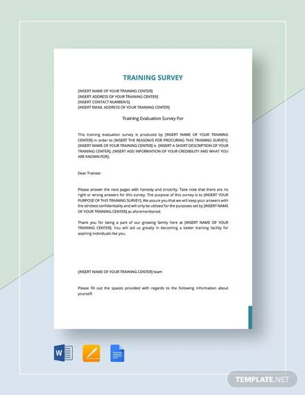 Training Survey - 15+ Download Free Documents in PDF, Word