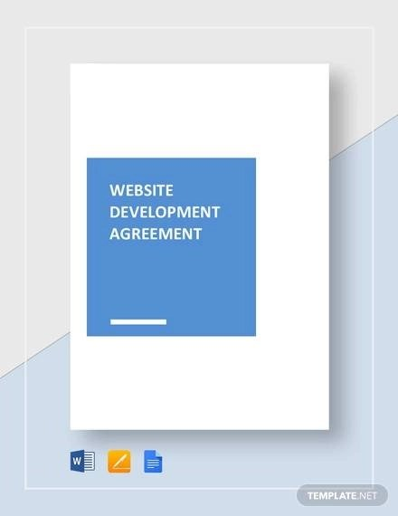 Sample Website Development Agreement - 8+ Documents in PDF, Word
