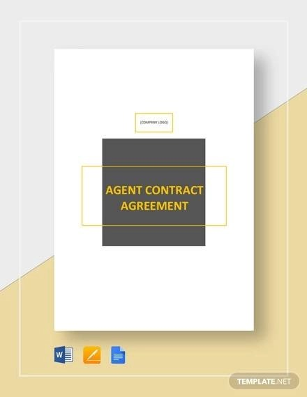 Sample Agent Contract Agreement - 9+ Examples in Word, PDF