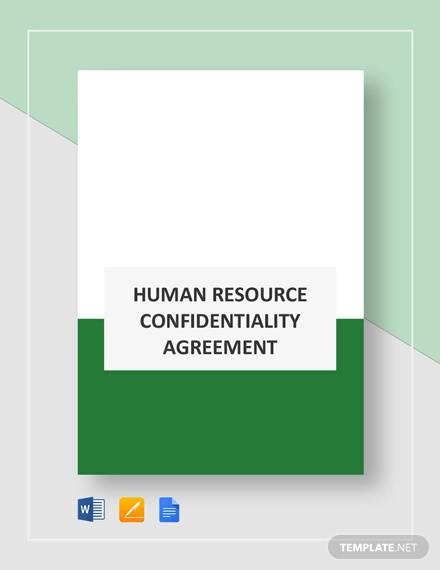 10+ HR Agreement Samples  Templates - PDF, DOC