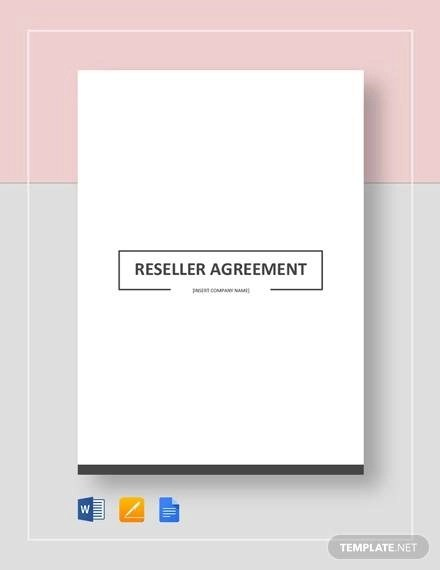 Reseller Agreement - 8+ Download Free Documents in PDF, Word