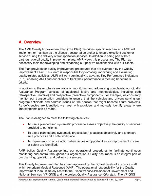 9+ Quality Assurance Plan Templates - PDF, Word