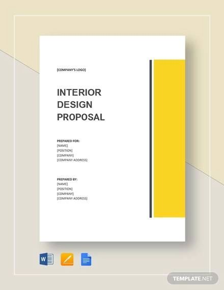 sample proposal interior design