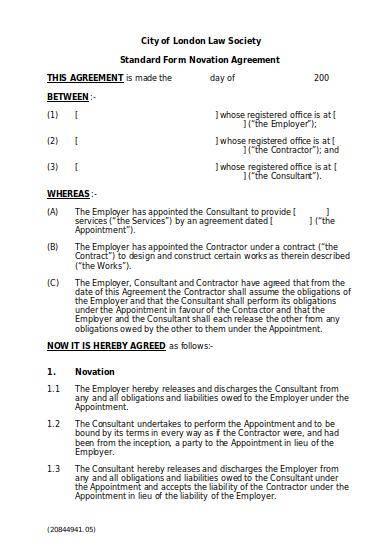 Novation Agreement theanatomyof