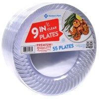 "Member's Mark Clear Plastic Plates, 9"" (55 ct.) - Sam's Club"