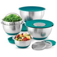 Wolfgang Puck Stainless-Steel Mixing Bowls with Lids, 12 ...