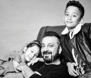 સંજય દત્તે પુત્ર શાહરાન અને પુત્રી ઇકરા સાથે કરાવ્યું ફોટોશૂટ: pics